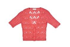 Chandail rose de crochet image stock