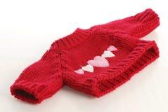 Chandail rouge de knit Image libre de droits
