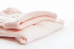 Chandail tricoté de rose en pastel Images libres de droits