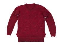 Chandail tricoté par rouge Photo stock
