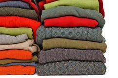 Chandails de knit et de cachemire du câble des hommes Photographie stock libre de droits