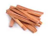 Chandan or sandalwood sticks. On white background Royalty Free Stock Photos