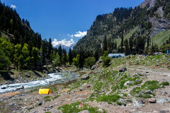 Chandanwari, Amarnath yatra route, Kashmir, India Royalty Free Stock Photography