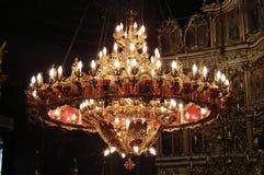 Chandelier. Church chandelier, in ortodox church Stock Photos