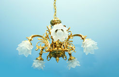 Chandelier. Luxurious chandelier hanging from ceiling Royalty Free Stock Photos