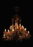 Chandelier. Elegant crystal chandelier on black background royalty free stock image