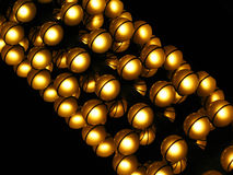 Chandelier. A big chandelier in an italian theatre stock image