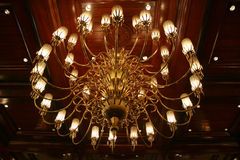 Chandelier. View of a grand chandelier royalty free stock photography
