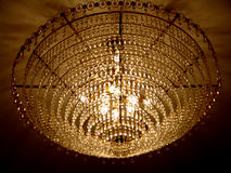 Chandelier. A large crystal chandelier hanging from the ceiling Royalty Free Stock Photo