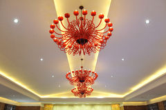 Chandelier. A chandelier in a hotel. Can be used in a web site design Stock Photos