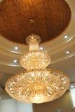 Chandelier. Beautiful chandelier in a hotel lobby Stock Image
