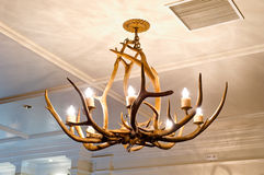 Chandelier. A hanging vintage luxury chandelier Royalty Free Stock Photography