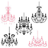 Chandelier. This graphic is chandelier. Illustration Stock Photo