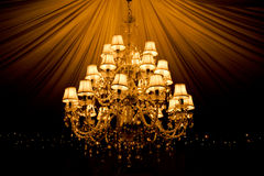 Chandelier. Beautiful old chandelier hanging from the top of a tent Royalty Free Stock Image