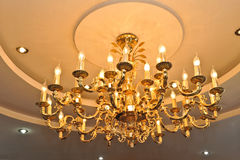 Chandelier. Beautiful chandelier in a hotel lobby Stock Photography