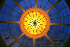Chandelier. Grand ballroom chandelier from below Royalty Free Stock Images