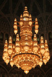 Chandelier. Largest chandelier in the world, in the Sultan Qaboos mosque in Muscat, Oman Stock Photo