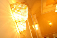 Chandelier. A beautiful and new chandelier Royalty Free Stock Photography