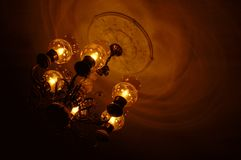 Chandelier. Ceiling lighting Royalty Free Stock Photography