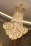 Chandelier. A very beautiful chandelier in the ballroom Royalty Free Stock Image