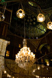 Chandelier. Inside Mohammed Ali Mosque in Egypt Royalty Free Stock Image