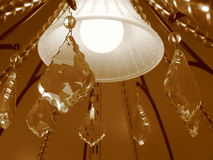 Chandelier. Crystalline chandelier Royalty Free Stock Photo