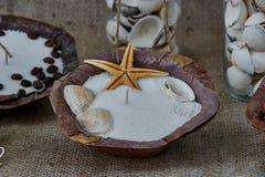 Chandelier avec de la cire sèche Image libre de droits