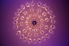 Chandelier in the banquet hall Royalty Free Stock Photo