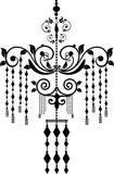 Chandelier. Baroque chandelier silhouette graphic illustration Royalty Free Stock Photography
