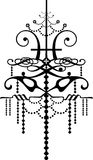 Chandelier. Baroque chandelier silhouette graphic illustration Stock Image