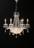 Chandelier. Beautiful chandelier in a modern interior Stock Image