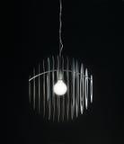 Chandelier on black background. Modern chandelier on black background royalty free stock photo