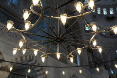 Chandelier of blue mosque Stock Photography