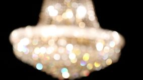 Chandelier from blur to focus stock video footage