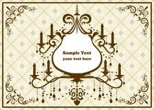 Chandelier brown frame. Illustration Royalty Free Stock Images
