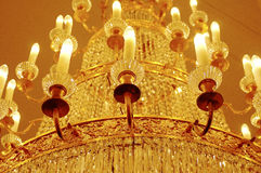 Chandelier with candles. Royalty Free Stock Photos
