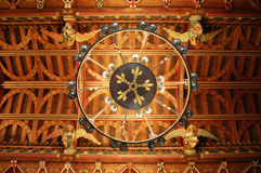 Chandelier in Cardiff Castle. Chandeliers hanging from the celing inside Cardiff Castle, Wales Stock Images