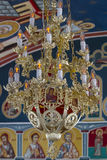 Chandelier in cathedral christian church Stock Photography