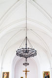 Chandelier in the catholic Cathedral Stock Photo
