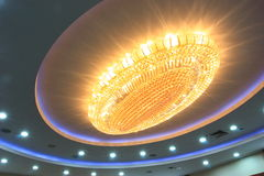 Chandelier at ceiling Royalty Free Stock Photo