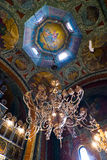 Chandelier and ceiling art Royalty Free Stock Photography