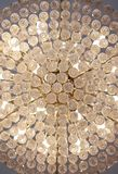 Chandelier. The ceiling decorate with the chandelier light Stock Photography