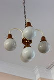 Chandelier. Ceiling hanging chandelier that shines five lamps Stock Photo