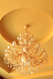 Chandelier on the ceiling in a hotel Royalty Free Stock Photo