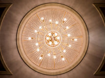 Chandelier ceiling light decoration Stock Image