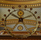Chandelier and ceiling in an orthodox church Stock Image