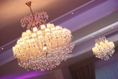 Chandelier on ceiling Royalty Free Stock Photo