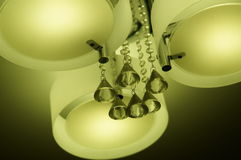 Chandelier ceiling warm light Royalty Free Stock Images