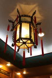 Chandelier in china restaurant. The chandelier in a china restaurant, Beijing Royalty Free Stock Image
