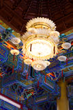Chandelier in chinese tempel. Royalty Free Stock Photography